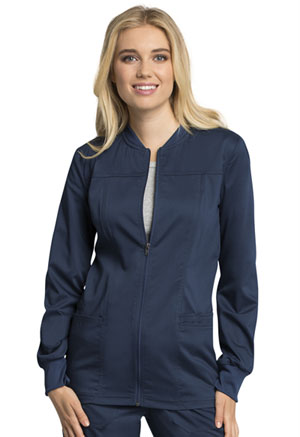 Cherokee Workwear Zip Front Warm-Up Jacket Navy (WW305AB-NAV)
