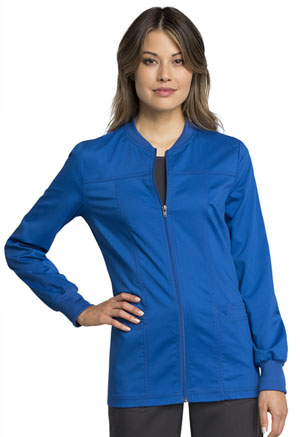Cherokee Workwear Zip Front Jacket Royal (WW305AB-ROY)
