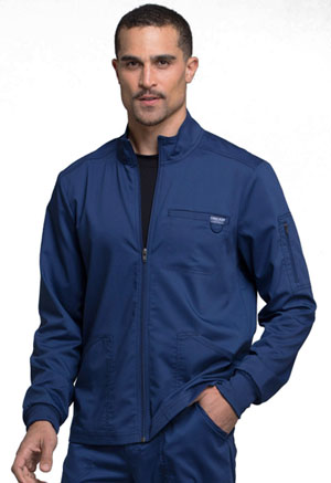Cherokee Workwear Men's Zip Front Jacket Navy (WW320-NAV)