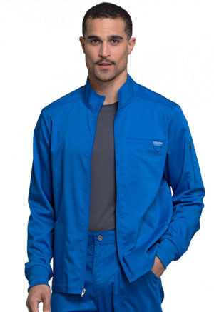 Cherokee Workwear Men's Zip Front Jacket Royal (WW320-ROY)