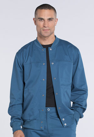 Cherokee Workwear Men's Snap Front Jacket Caribbean Blue (WW330-CARW)