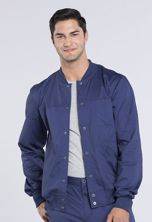Cherokee Workwear Men's Snap Front Jacket Navy (WW330-NAVW)