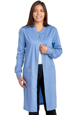Cherokee Workwear Unisex 40 Snap Front Lab Coat Ciel Blue (WW350AB-CIE)