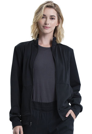 WW Revolution Zip Front Knit Jacket (WW371-BLK) (WW371-BLK)