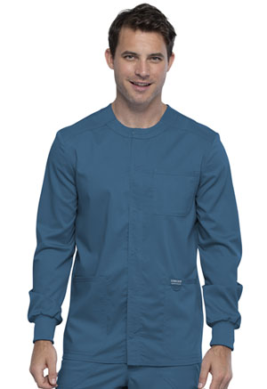 Cherokee Workwear Men's Snap Front Jacket Caribbean Blue (WW380-CAR)