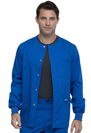 Cherokee Workwear Men's Snap Front Jacket Royal (WW380-ROY)