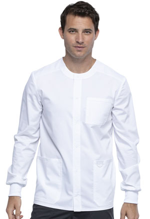 Cherokee Workwear Men's Snap Front Jacket White (WW380-WHT)