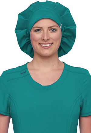 Cherokee Workwear Bouffant Scrubs Hat Teal Blue (WW508AB-TLB)