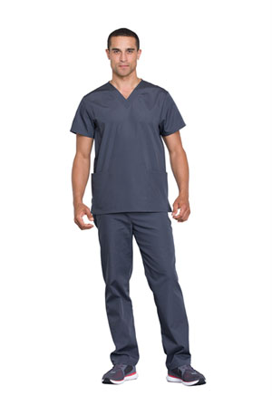 Cherokee Workwear Unisex Top and Pant Set Pewter (WW530C-PWTW)