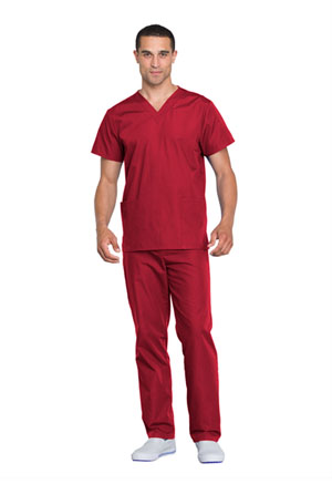 Cherokee Workwear Unisex Top and Pant Set Red (WW530C-REDW)
