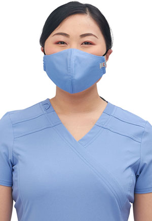 Cherokee Workwear Adult 5 Face Covering Bundle Pack Ciel Blue (WW560AB-CIE)