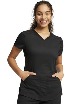 Cherokee Workwear V-Neck Top Black (WW601-BLK)