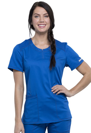 Cherokee Workwear Round Neck Top Royal (WW602-ROY)
