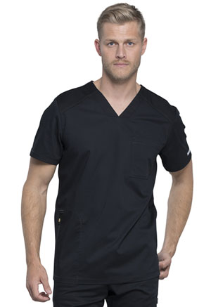 Cherokee Workwear Men's V-Neck Top Black (WW603-BLK)