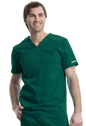 Cherokee Workwear Men's V-Neck Top Hunter Green (WW603-HUN)