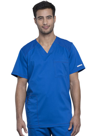 Cherokee Workwear Men's V-Neck Top Royal (WW603-ROY)