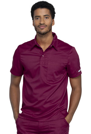 Cherokee Workwear Men's Polo Shirt Wine (WW615-WIN)