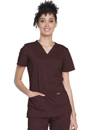 Cherokee Workwear V-Neck Top Espresso (WW620-ESP)
