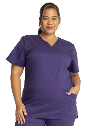 Cherokee Workwear V-Neck Top Grape (WW620-GRP)
