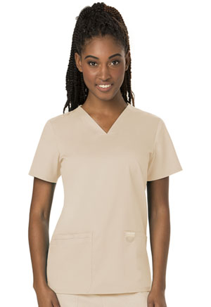 Cherokee Workwear V-Neck Top Khaki (WW620-KAK)