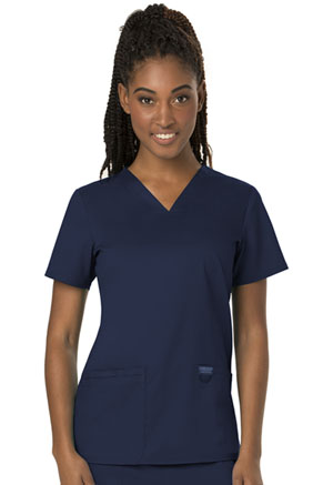 Cherokee Workwear V-Neck Top Navy (WW620-NAV)