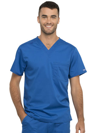 Cherokee Workwear Unisex 1 Pocket V-Neck Top Royal (WW625-ROY)