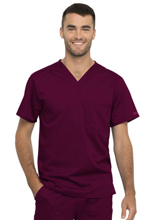 WW Revolution Unisex 1 Pocket V-Neck Top (WW625-WIN) (WW625-WIN)