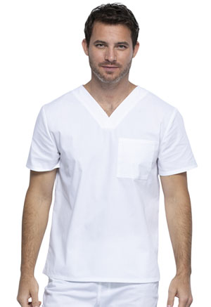 Cherokee Workwear Unisex V-Neck Top White (WW644-WHT)
