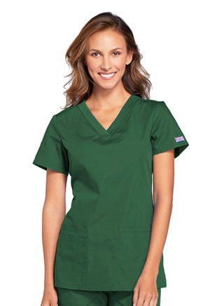 Cherokee Workwear V-Neck Top Hunter (WW645-HUNW)