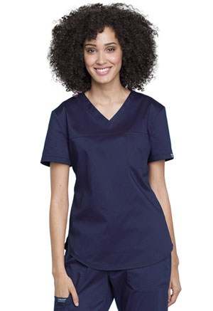 Cherokee Workwear Tuckable V-Neck O.R. Top Navy (WW657-NAV)