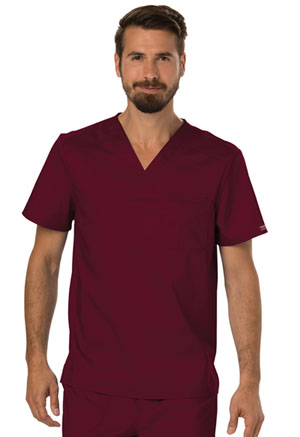 Cherokee Workwear Men's V-Neck Top Wine (WW690-WIN)
