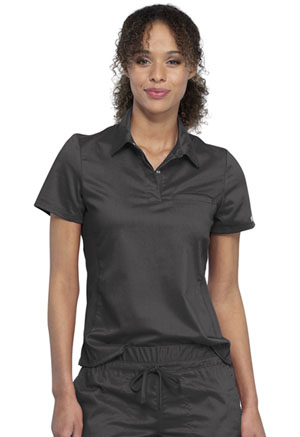 Cherokee Workwear Snap Front Polo Shirt Pewter (WW698-PWT)