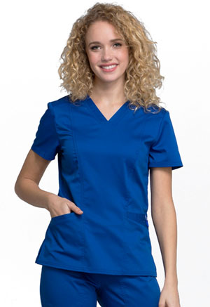 Cherokee Workwear V-Neck Top Galaxy Blue (WW710-GAB)