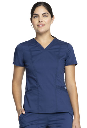 Cherokee Workwear V-Neck Top Navy (WW710-NAV)