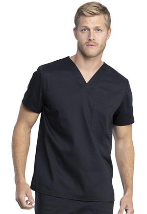 Cherokee Workwear Unisex V-Neck Top Black (WW742AB-BLK)