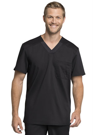 Cherokee Workwear Men's Tuckable V-Neck Top Black (WW755AB-BLK)