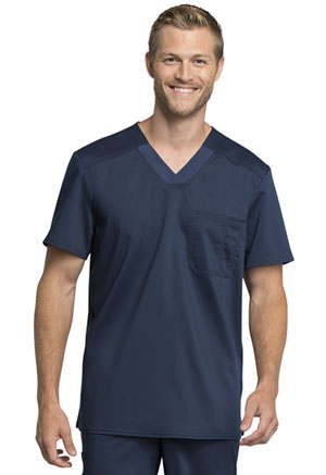 Cherokee Workwear Men's V-Neck Top Navy (WW755AB-NAV)