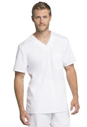 Cherokee Workwear Men's V-Neck Top White (WW755AB-WHT)