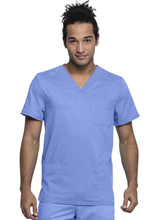 Cherokee Workwear Men's V-Neck Top Ciel Blue (WW760AB-CIE)