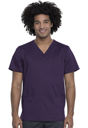 Cherokee Workwear Men's V-Neck Top Eggplant (WW760AB-EGG)