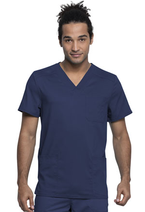 Cherokee Workwear Men's V-Neck Top Navy (WW760AB-NAV)
