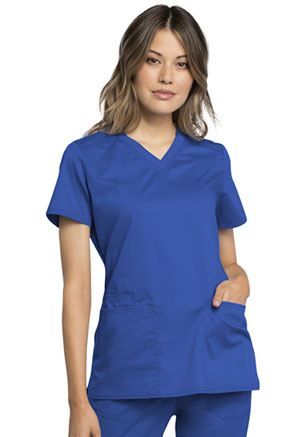 Cherokee Workwear V-Neck Top Royal (WW770AB-ROY)