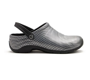 Anywear Medical Footwear Unisex ZONE Black Silver Pattern