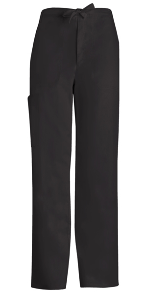 Cherokee Men's Fly Front Drawstring Pant Black (1022-BLKV)