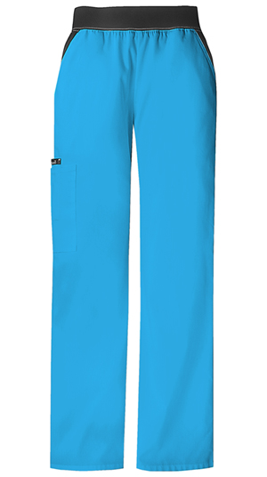 Flexibles Women's Mid Rise Knit Waist Pull-On Pant Blue