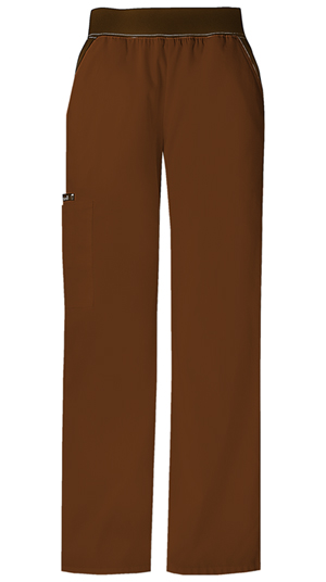 Cherokee Flexibles Women's Mid-Rise Knit Waist Pull-On Pant Brown