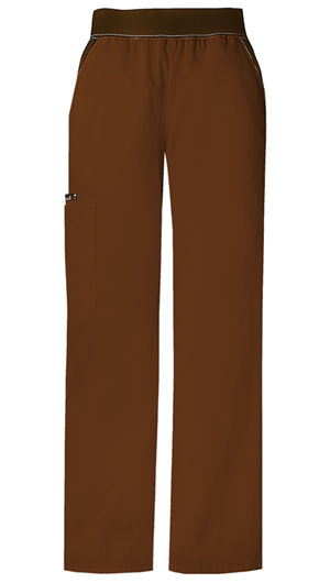 Flexibles Women's Mid Rise Knit Waist Pull-On Pant Brown