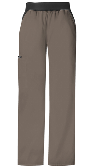 Cherokee Mid Rise Knit Waist Pull-On Pant Taupe (1031-TAUB)