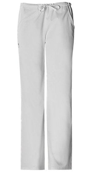Cherokee Luxe Women's Low Rise Drawstring Pant White