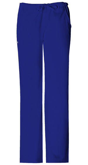Cherokee Cherokee Luxe Women's Low Rise Straight Leg Drawstring Pant Blue